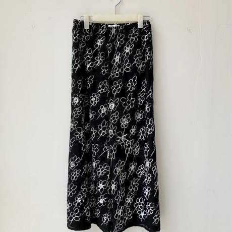 フラワードローイング ワイドパンツ  / Flower Drawing Wide Trousers