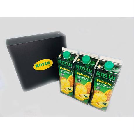 ROTUIパイナップルジュース お得な3本セット(ボックス付き)
