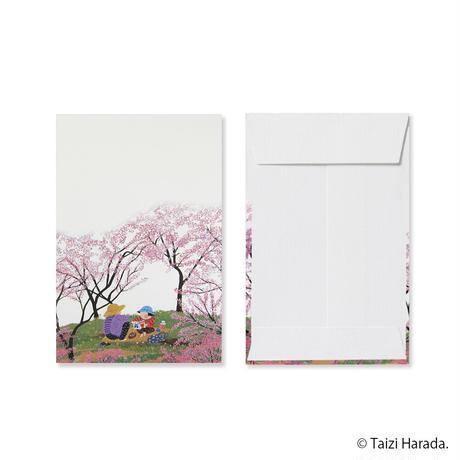 【原田泰治】ぽち袋【新 モモの花】