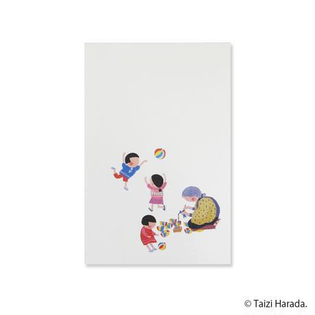 【原田泰治】ぽち袋【紙ふうせん】
