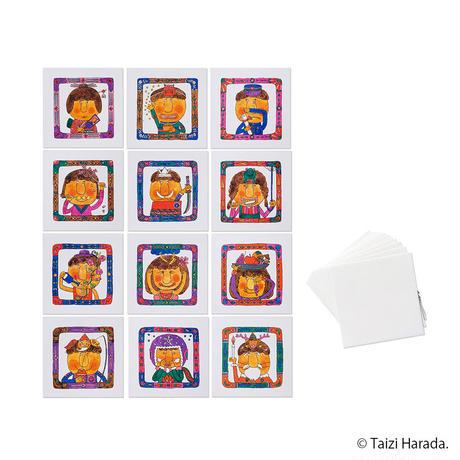 【原田泰治】メッセージカード【白】