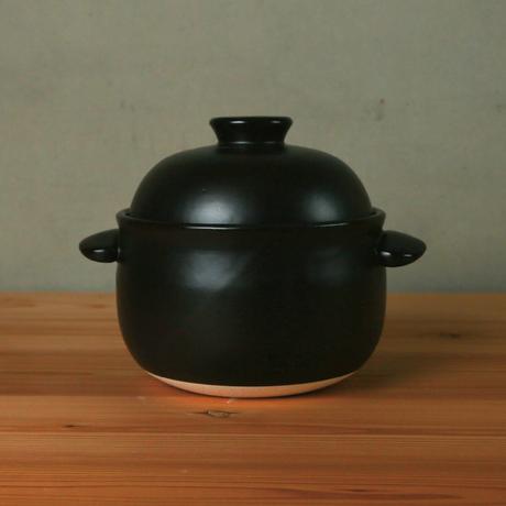 ごはん鍋  3合(白/黒)