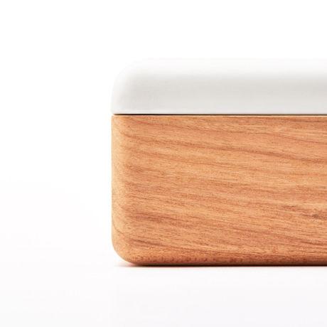 kime | 磁器×木のティッシュケース