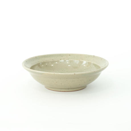 [Luft]Erde Shallow Bowl(薄緑/黒)