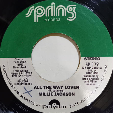 Millie Jackson / All The Way Lover (7inch)