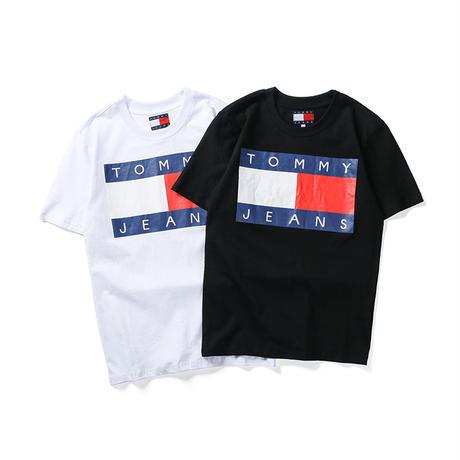 【翌日発送】トミーヒルフィガー  Tシャツ 半袖 男女兼用  Tommy hilfiger