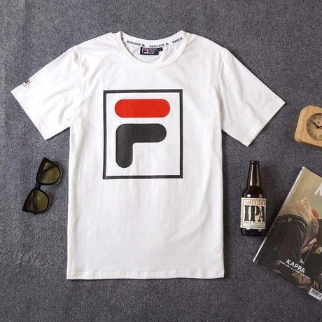 フィラ     半袖  Tシャツ    トップス    男女兼用    taka-L001