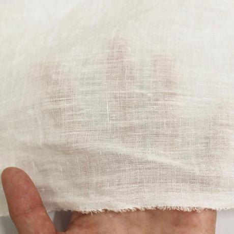 麻100% 60番手 平織り生地 ジッカー染め[50cmカット済み] (2317)