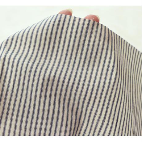 【ストライプ】 fanageコットン100% 40×50番手 アンティークストライプ生地/10cm (1427)
