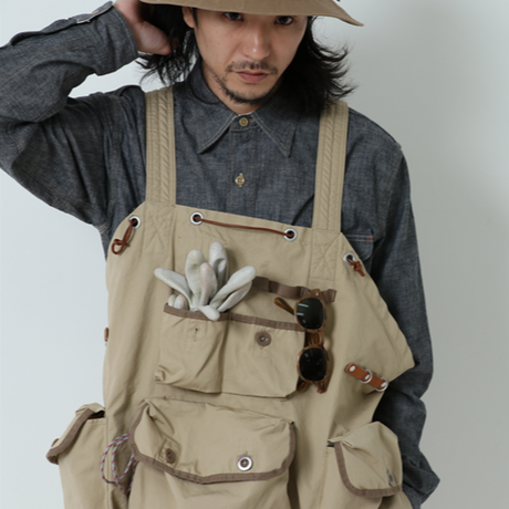 【送料無料】GYPSY&SONS 2019SS collection!【VENTILE EQUIPMENT VEST】COLOR:BEIGE