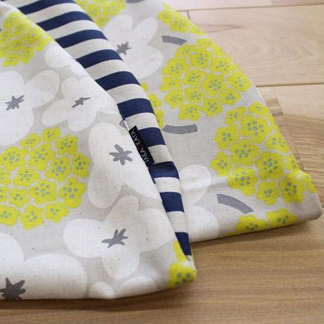せんべい座布団 おはなとしましま/リバーシブル 撥水ヌード座布団&洗えるカバーセット