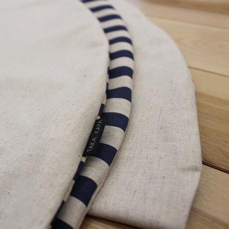 せんべい座布団 ナチュラルとしましま/リバーシブル 撥水ヌード座布団&洗えるカバーセット