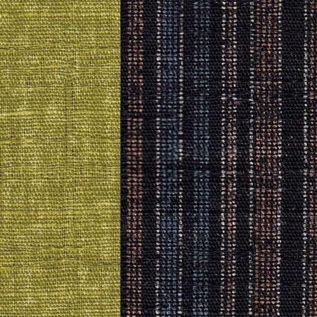 おじゃみ座布団 Mサイズ/縞とモスグリーン