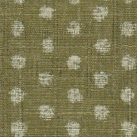 小座布団 50×55cm 木綿・むら染め/あられグリーン