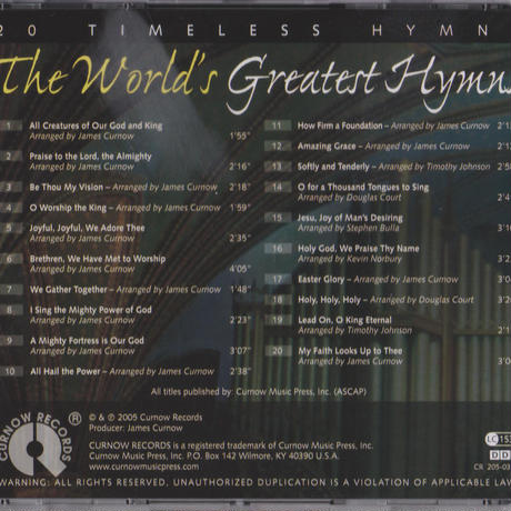 "★item189 フィリップ・スミス Philip Smith CD ""不朽の賛美歌"" The World's Greatest Hymns (2005)"