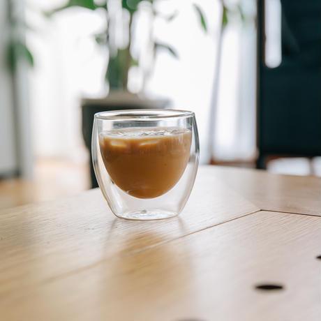 【機能とデザインのいいとこ取り】ダブルウォールグラス(小)
