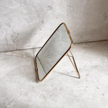【真鍮が可愛い】テーブルミラー