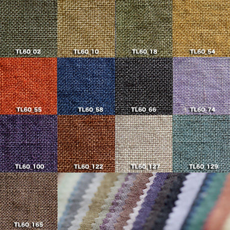 Fanage linen(天日干しリネン)100%生地 TL60  02〜165 60番手使用