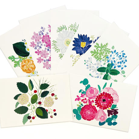 花もよう お花のポストカード 7枚セット