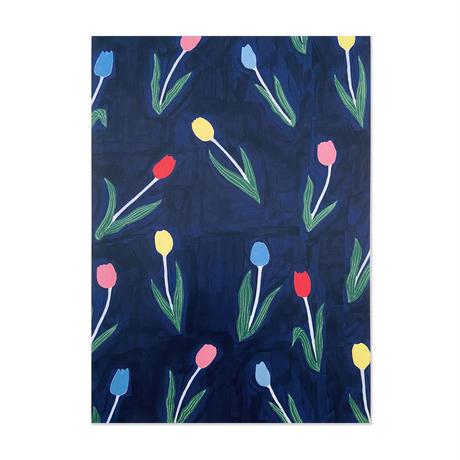 デザインペーパー 花と植物柄