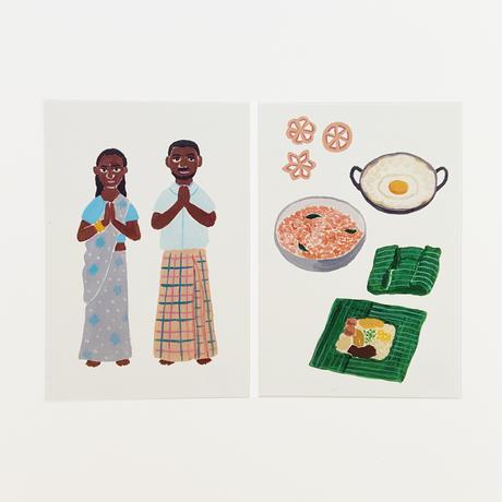 I Love スリランカ ポストカード 4枚セット