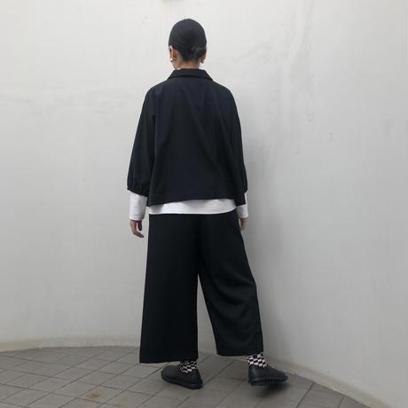 黒ギャバワイドパンツ(high quality Gabardine / no.619)