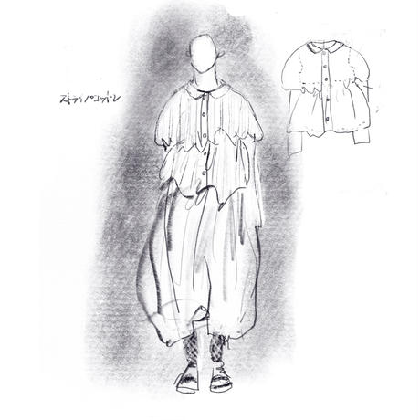 【Designblouseストライプコットン no.225】
