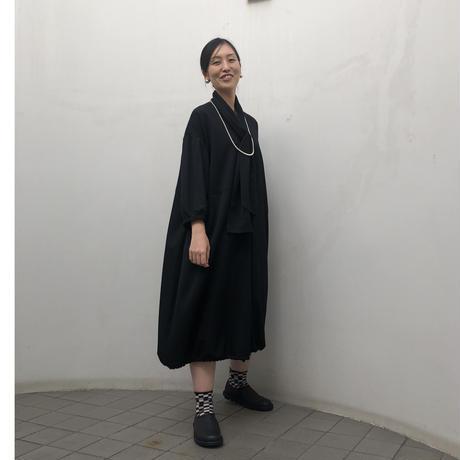 黒ギャバワンピース(high quality Gabardine / no.445)