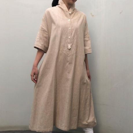 【パイル屋さんのコットンで作ったシャツワンピース no.427】