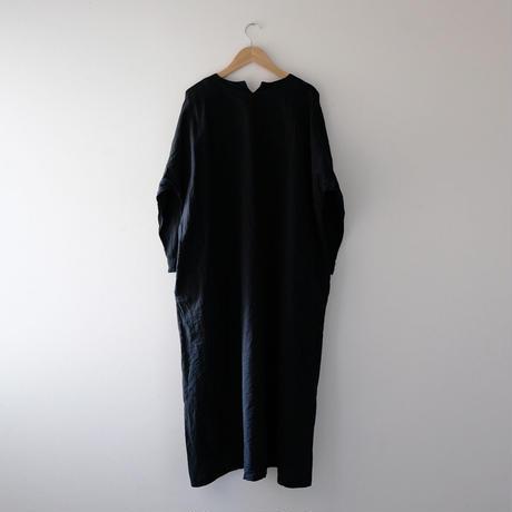 キーネックワンピース(黒)/Lady's