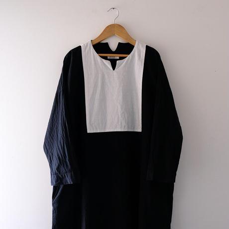キーネックワンピース(黒×白)/Lady's