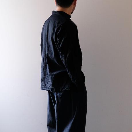 スタンドカラートップス(黒・たっぷり)/Men's