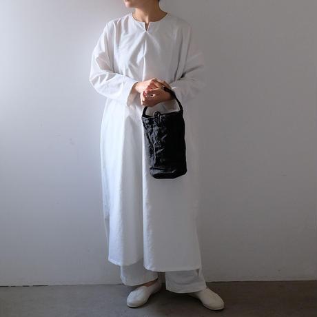 丸底編み手トート/柿渋 黒