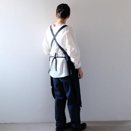 ワークエプロン(濃紺/パーカーポケット)