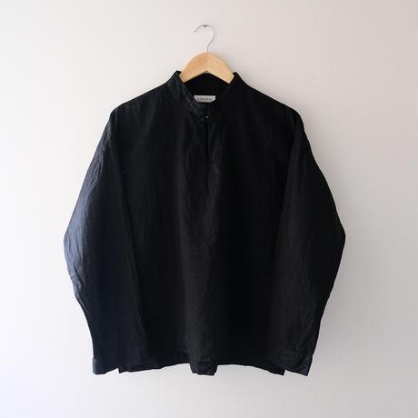 スタンドカラートップス(黒・すっきり)/Men's
