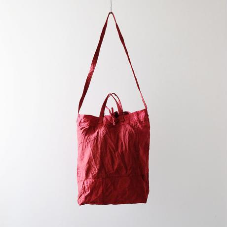 パッチワークのバッグ(紐細め)/茜