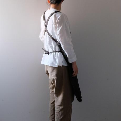ワークエプロン(柿渋黒/3連ポケット)
