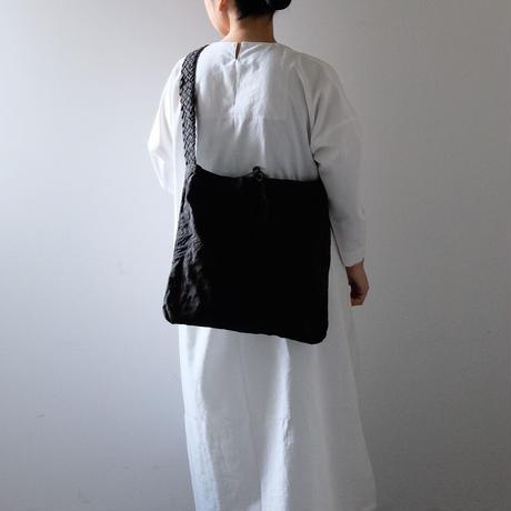 編み手ショルダー/柿渋  黒