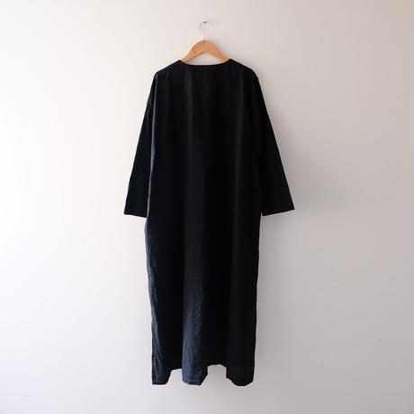 ボタンワンピース(黒)/Lady's