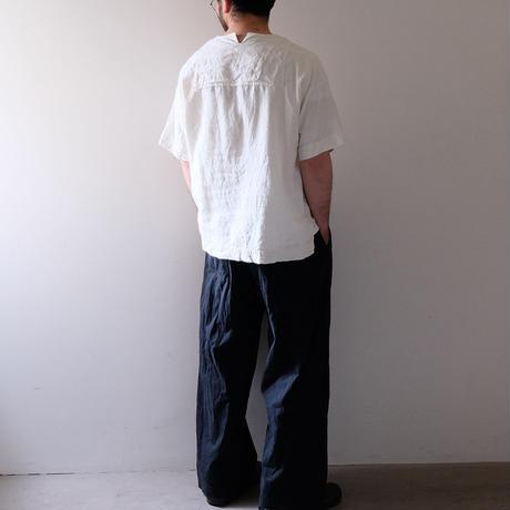 ワイドパンツ(墨黒・すっきり)
