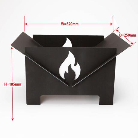 【ストアーズ発売記念プレゼント付】Fire Pit【ブラック】/焚き火台  (収納バッグ付)