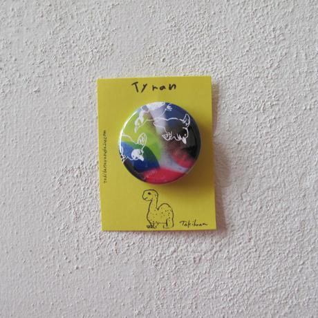 CD付き絵本「Tyran(ティラン)」グッズ 岩になったティラン缶バッジ