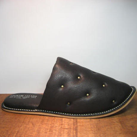 Sofa Slippers STUDS BLACK