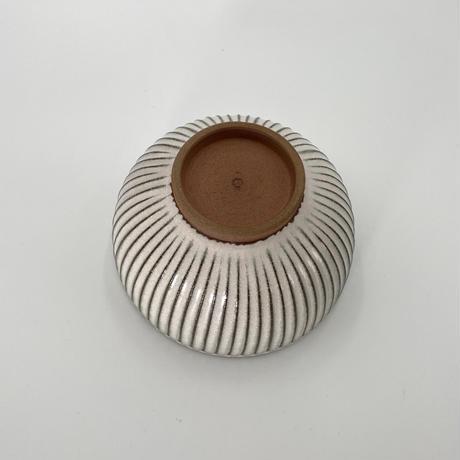 雅峰窯 鎬(しのぎ)鉢 ピンク