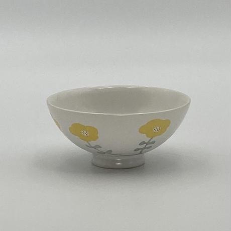 香田昌恵 花絵茶碗 黄