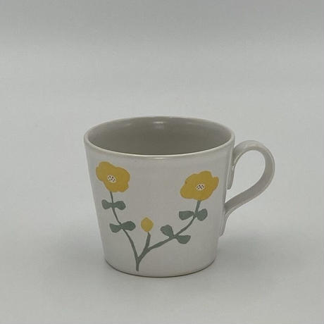香田昌恵 花絵マグカップ 黄