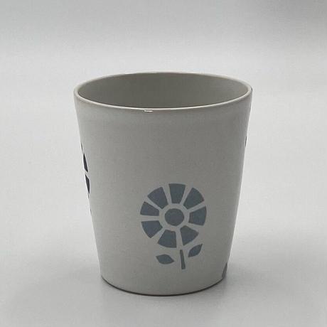 香田昌恵 フリーカップ (花柄・青)