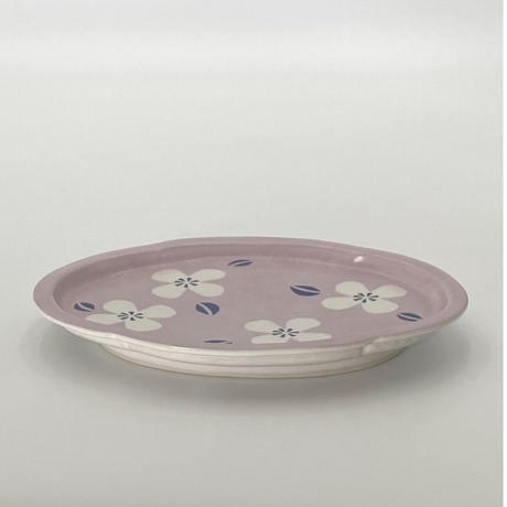 香田昌惠 木瓜形皿 (紫)