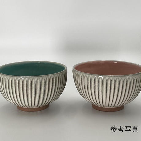 雅峰窯 鎬(しのぎ)鉢 ブルー
