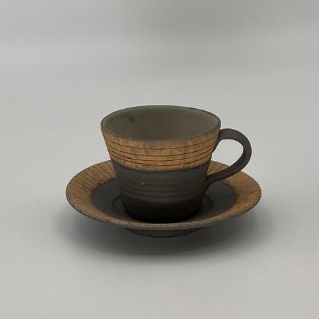 かねと窯 白泥コーヒーカップ&ソーサ